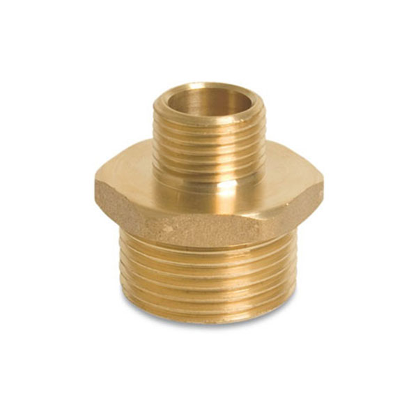 Brass Reducing Nipple - Male BSP x Male BSP